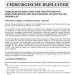 Dit is de chirurgische bijsluiter borstvergroting van de Nederlandse Vereniging Voor Plastisch Chirurgen